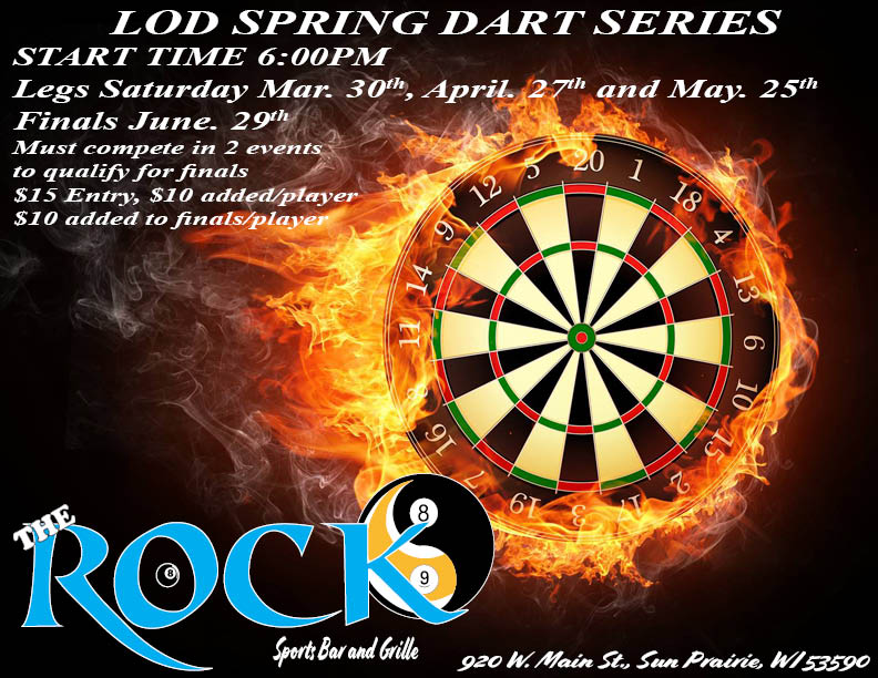 WEEKLY DART TOURNAMENTS – The Rock Sports Bar and Grille